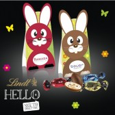 Lindt 'HELLO' Easter Egg Mix Osterhase 50g (ab 100 Stück)