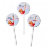 Runde Muffinpicker für Cupcakes als Zahnstocher-Fähnchen am Plastikstab (ab 100 Stück)