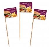 Lange Standard Partypicker als Burgerfahnen oder Sandwichfahnen (ab 100 Stück)