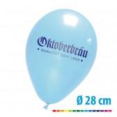 Premium Luftballons bedrucken Ø28cm Pastell 85/95cm (ab 1.000 Stück)