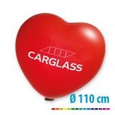 Riesenballons Herzform 300 cm, Ø110 cm bedrucken (ab 10 Stück)