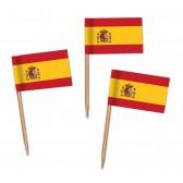 Spanien Flaggenpicker als Zahnstocherfähnchen mit Standardmotiv (ab 1.000 Stück)