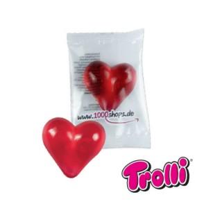 Gummibär als Herz mit Werbetüte Werbegeschenk