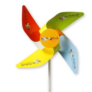 Windmühlen 4 Flügel in Kleinauflage aus MC Papier mit Front-Rosette (ab 100 Stück)