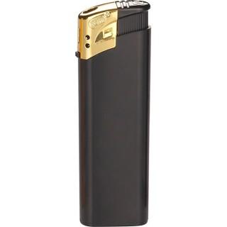 Feuerzeug schwarz mit goldener Kappe von TOM bedrucken