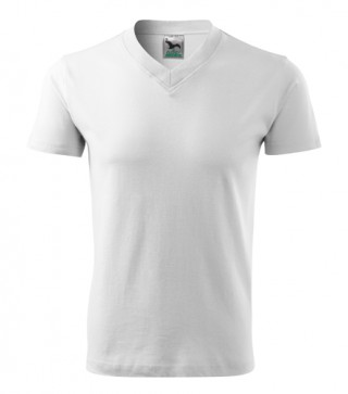 Unisex T-Shirt V-Neck weiß (ab 50 Stück)