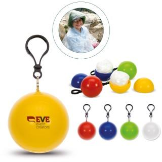 Regenponcho mit Schlüsselanhänger (ab 100 Stück)