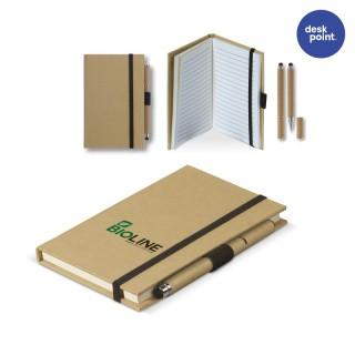 Notizbuch Karton A6 mit Kugelschreiber (ab 100 Stück)