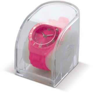 Silikonuhr in einer transparenten Geschenkverpackung (ab 25 Stück)