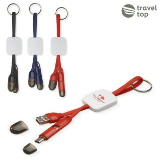 Schlüsselanhänger mit USB Aufladekabel (ab 50 Stück)