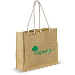 Jute Einkaufstasche mit Baumwollhenkeln (ab 50 Stück)