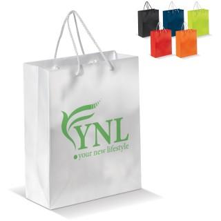 Mittlere laminierte Papiertasche (ab 100 Stück)
