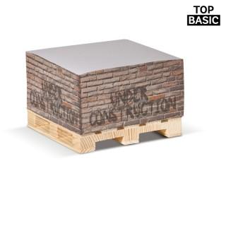 Zettelblock auf Holzpalette 420 Blatt (ab 100 Stück)