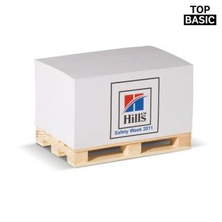 Zettelblock auf Holzpalette 530 Blatt (ab 100 Stück)