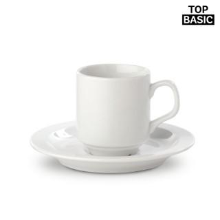 Set aus Tasse mit Untertasse Madrid 130 ml (ab 100 Stück)