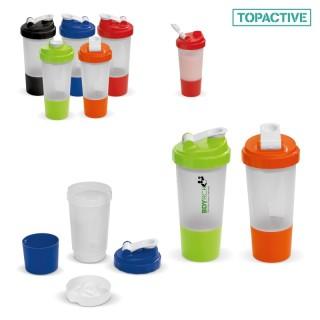 Shaker mit extra Fach 500 ml (ab 100 Stück)