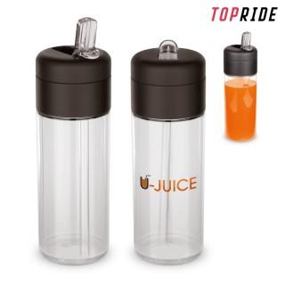 Trinkflasche Flow mit Trinkhalm 500 ml (ab 50 Stück)