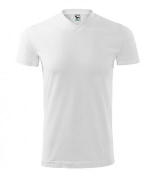 Unisex T-Shirt Heavy V-Neck weiß (ab 50 Stück)