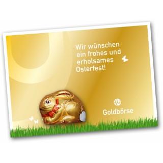 Süßer Hase aus Nougat mit Grußkarte bedrucken zu Ostern
