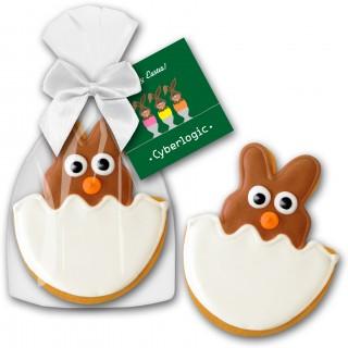 Cookie Hase Ei Keks als Werbegeschenk mit Logo bedrucken
