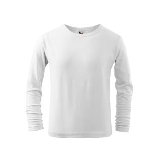Kinder T-Shirt Long Sleeve weiß (ab 50 Stück)