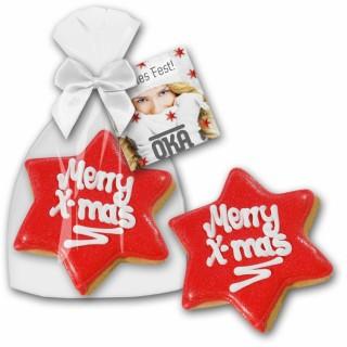 Cookie Weihnachtsstern (ab 100 Stück)