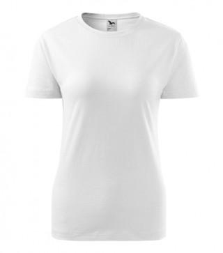Damen T-Shirt Basic weiß (ab 50 Stück)