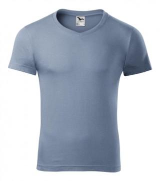 Herren T-Shirt Slim Fit V-Neck farbig (ab 50 Stück)