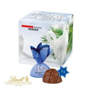 Lindt Mini-Fioretto im Weihnachts-Werbewürfel (ab 100 Stück)