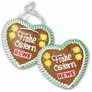 Herz zu Ostern bedrucken mit Logo und Wunschtext als Handbeschriftung