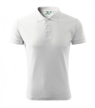 Herren Polohemd Pique Polo weiß (ab 50 Stück)