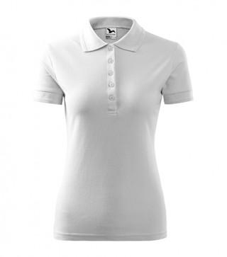 Damen Polohemd Pique Polo weiß (ab 50 Stück)