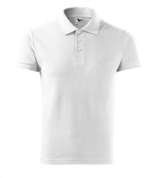 Herren Polohemd Cotton Heavy weiß (ab 50 Stück)