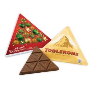 TOBLERONE Dreieckstafel 60g zu Weihnachten in Werbebox bedrucken (ab 100 Stück)