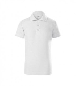 Kinder Polohemd Pique Polo weiß (ab 50 Stück)