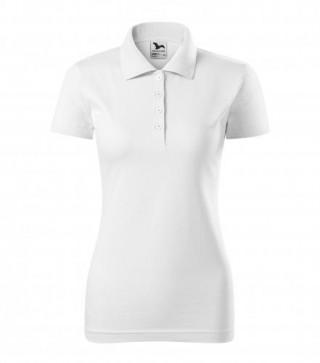 Damen Polohemd Single J. weiß (ab 50 Stück)