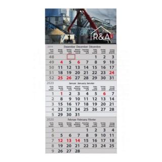 Express 3 Monats Wandkalender (Abbildung ähnlich)