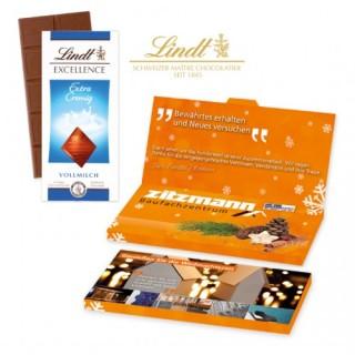 Lindt Excellence Schokoladentafel als Grußkarte (ab 250 Stück)