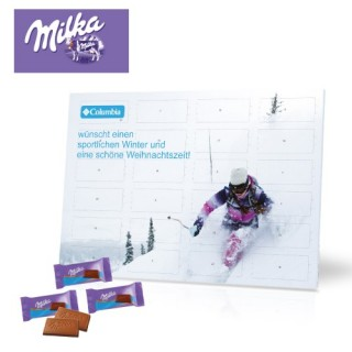 Milka Schokolade Tisch-Adventskalender (ab 100 Stück)