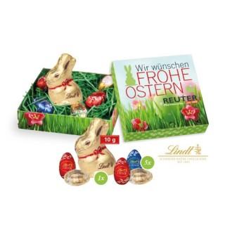 Werbepräsent Ostern Frühling Karton mit Druck