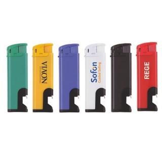 Feuerzeug mit Flaschenöffner bedrucken günstig als Elektronik Feuerzeug