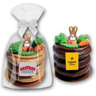 Baumkuchen als Oster Werbegeschenk 300g mit Marzipan