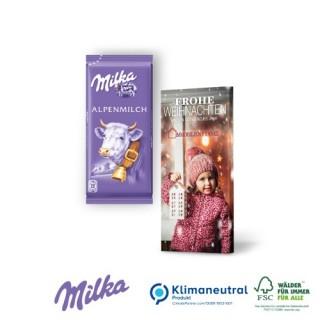 Schokoladentafel von Milka, 40 g, Klimaneutral, FSC® (ab 100 Stück)