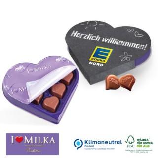 Milka Kleeblatt Kleines Dankeschön mit 'I love Milka'-Pralinen zu Weihnachten (ab 100 Stück)