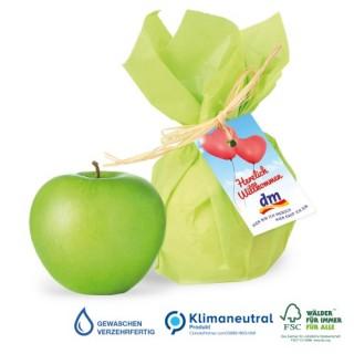 Premium-Werbe-Apfel mit Werbekärtchen (ab 150 Stück)