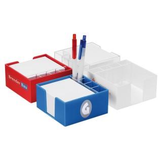 Zettelbox mit Köcher und weißem Papier (ab 100 Stück)