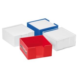 Zettelbox mit weißem Papier flach (ab 100 Stück)