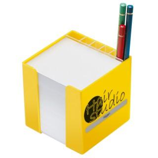 Zettelbox mit Köcher (ab 100 Stück)