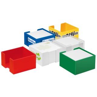 Zettelbox mit weißem Papier (ab 100 Stück)
