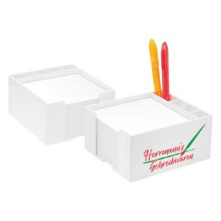Zettelbox mit Köcher flach(ab 100 Stück)